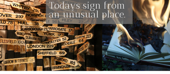 Todays sign from an unusual place by A Journey into Magic